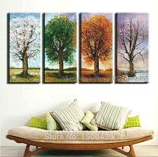 wall art sets of 4 canvas sets wall art luxury hand painted 4 season tree oil