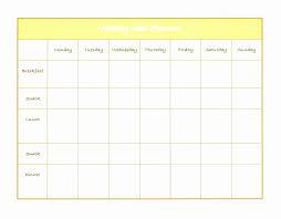033 Menu Planner Template Excel Beautiful Weekly Diet Plan