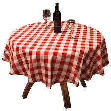 get ations tablecloths 60 pack of 10 checd round seamless heavy woven table cloths