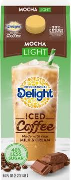 International delight iced coffee mocha. Fry S Food Stores International Delight Mocha Light Iced Coffee 1 2 Gal