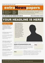 Editable Newspaper Template Word Extranewspapers