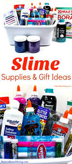 diy slime gift basket for the win