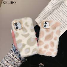 Cute Brown Animal <b>Fluffy</b> Fur Phone Case for Iphone 11 Pro Max X ...