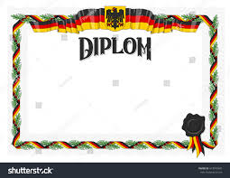 editable vector diploma certificate international paper stock  editable vector diploma certificate international paper size editable colors german colors flag