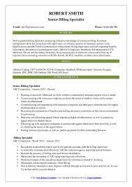 Billing Specialist Resume Samples Qwikresume