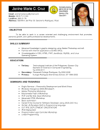 8 Applicant Resume Sample Filipino Kozanozdra