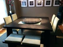 table with lazy susan built in round table with lazy chairs thumb patio turntable round dining room table with built in lazy susan