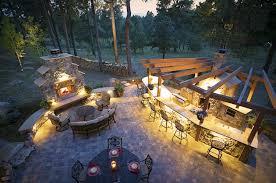creative outdoor lighting ideas. Landscape Lighting Design Ideas And Outdoor Small Kitchen With Garden Patio Decor Wooden Pergola Open Floor Plan Exterior Living Dining Space Creative G