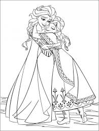 Small Picture Elsa and Anna Hugging Free Coloring Page Frozen Coloring book