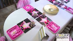 Hollywood Theme Decorations Pink Hollywood Glam Themed Birthday Party Youtube