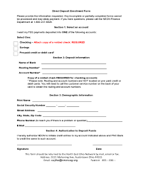 Direct Deposit Enrollment Form - Ohio - Edit, Fill, Sign Online ...