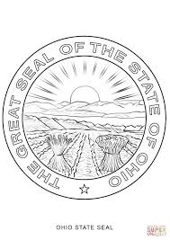 Small Picture Ohio State Seal coloring page Free Printable Coloring Pages