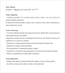 Med School Resume  medical school resume objective  example