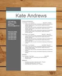 Contemporary Resume Templates 16 10 Free Modern Ideas Download Word