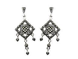 marcasite chandelier earrings mj20529