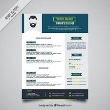 Adobe Resume Template Free Best of Blue Resume Template Free Vector CV Pinterest Resume Template