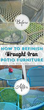 painting wrought iron furniture. How To Refinish Wrought Iron Patio Furniture Painting