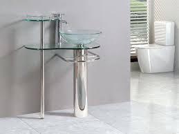 pedestal bowl sink inch bathroom vanities pedestal vessel sink bowl glass modern faucet set double bowl