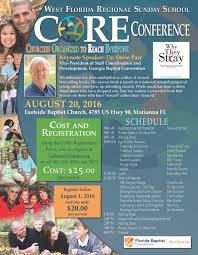 core conference sunday school florida baptist fbccore flyer