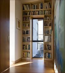 3 shelving bookcase with doors
