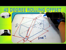 Offset Chart For Conduit Piping 45 Degree Rolling Offset How To Find 45 Degree Rolling Offset