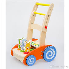 wooden toy first step baby walker push along toy plus animals beautiful beginnings learning walking infants baby kids developmental toy by