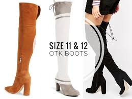 size 12 women boots over the knee boots for tall women size 11 and 12 women with