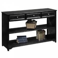 Furniture Alluring Black Console Table With Shelves Applied To Your