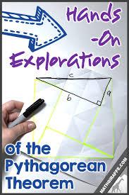 Pythagoras Theorem Chart Hands On Activities For Pythagorean Theorem