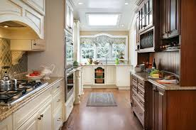 Inspiration Ideas White Country Galley Kitchen With Country Cottage
