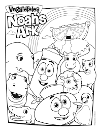 Noah's ark coloring pages with bible verse and tracing. Veggietales Noah Ark Coloring Page Tsum Pages Veggie Tales For Kids Printable Girls Free Christmas Boys Halloween Colouring Football Oguchionyewu