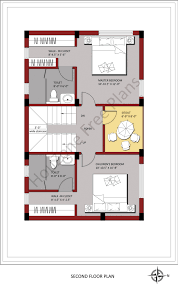 second floor plan for 150 sq yards of plot size