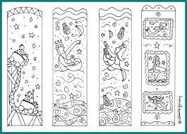 Bookmark Coloring Pages Mermaid Bookmarks Diy Cute Printable Coloring Page