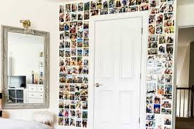 how to create a simple teen photo wall