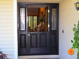Traditional Style Single Dutch Entry Door with 2 Sidelights. Size 36x80.  Plastpro DRM60 in