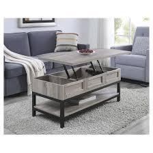 Barrett Lift Up Coffee Table And Desk   Sonoma Oak/Black   Altra