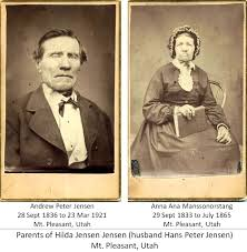Mt. Pleasant Pioneer: Hans Peter Jensen , Christian J. Jensen, and Mrs. H.  P. Sorensen ~~~~ A revision of the March 2, 2011 post by Judy Malkiewicz
