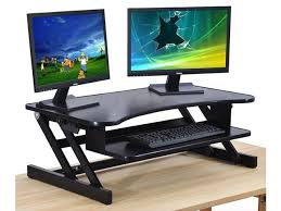 adjustable standing desk dual monitor. Brilliant Monitor Standing Desk  The DeskRiser Height Adjustable Sit Stand Up Dual Monitor  Office Computer And H