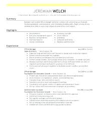 Administrative Resume Templates Unique Front Office Manager Resume Template Resumes For Jobs Sample Of