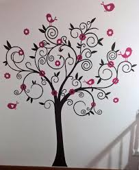 huge nursery tree wall decals with birds flowers vinyl wall sticker removable nursery playroom girls baby