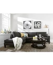 Macys Living Room Furniture Alanis Fabric Sectional In Charcoal Macys I Like The Bw