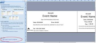Microsoft Office Templates Tickets Interesting How To Generate Sequentially Numbered Documents Using Publisher