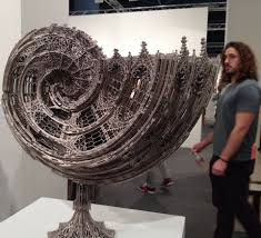 actegratuit Nautilus Shell. Laser Cut Steel WIM DELVOYE Art.