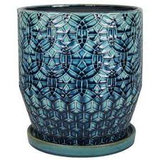 10 in dia ceramic rivage planter