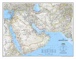 national geographic maps middle east wall map