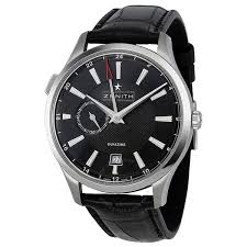 zenith watches jomashop zenith captain dual time black dial automatic men s watch