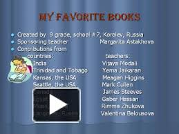 PPT – My favorite books PowerPoint presentation | free to view - id:  2449cd-MjA2Y