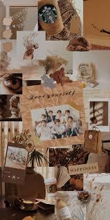 BTS aesthetic wallpaper #brown ...