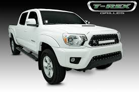 t rex tacoma torch series led light grille 1 20 led bar formed mesh grille main insert 1 pc black 2016 2016