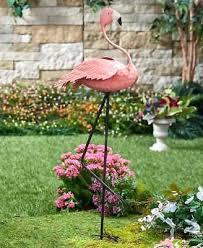 flamingo lawn ornaments flamingo metal planter outdoor yard decor garden statue flower pot lawn ornament flamingo flamingo lawn ornaments